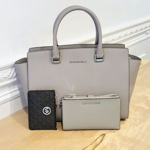 NWT Michael Kors Satchel, Wallet & Coin Pouch